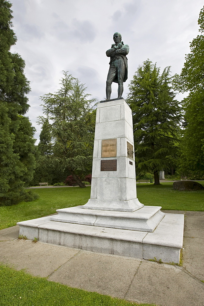 Robert Burns Memorial in Stanley Park, Vancouver, British Columbia, Canada, North America