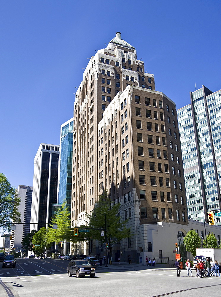 Vancouver Marine Building on Granville Street, Vancouver, British Columbia, Canada, North America