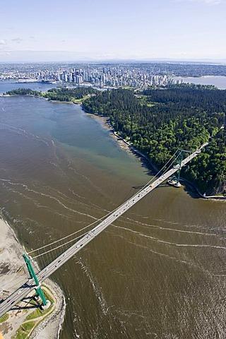 Lions Gate Bridge, Vancouver, British Columbia, Canada, North America