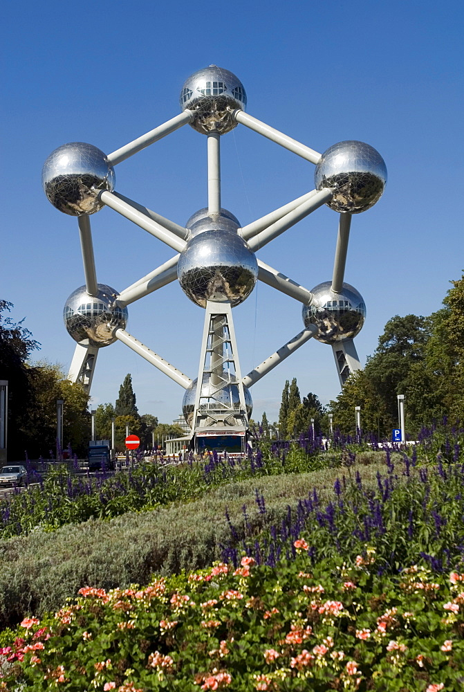 Atomium, built for Expo '58, the 1958 Brussels World's Fair in Brussels, Belgium