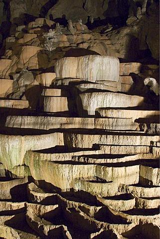 Sinter terraces in the Skocjan caves - Slovenia