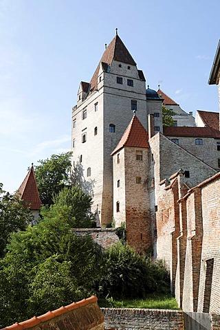 Trausnitz castle, Landshut, Lower Bavaria, Germany