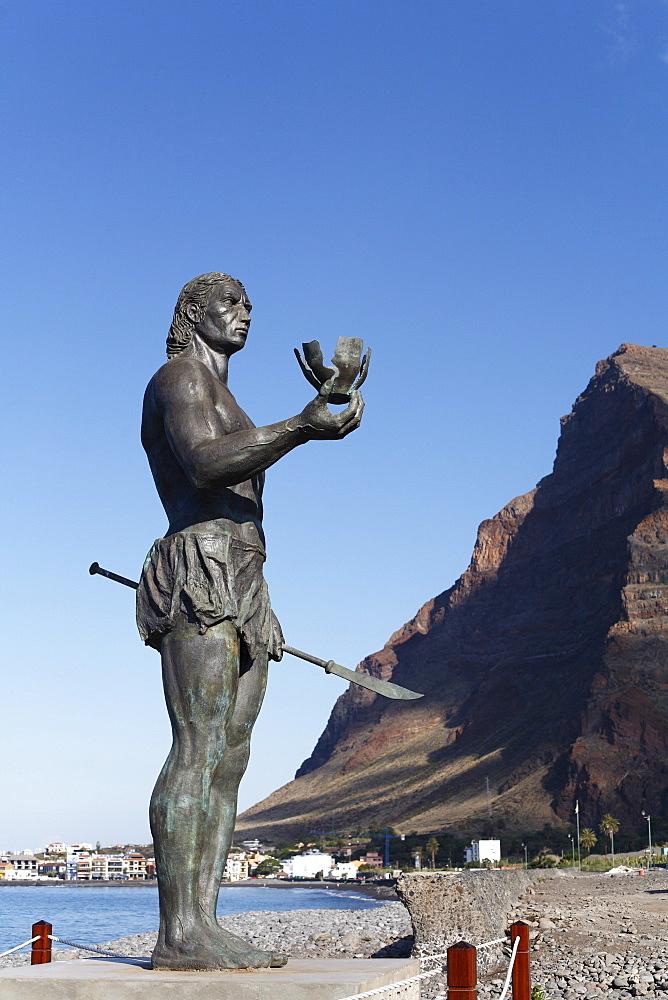 Hautacuperche monument, La Puntilla, Valle Gran Rey, La Gomera, Canary Islands, Spain