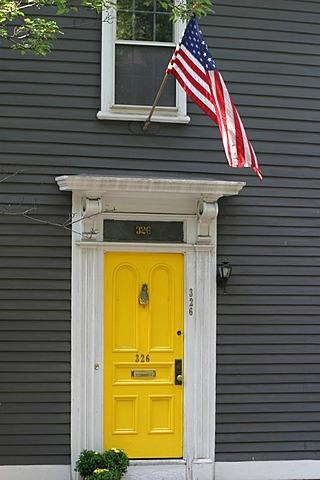 Door in Providence, Rhode Island.