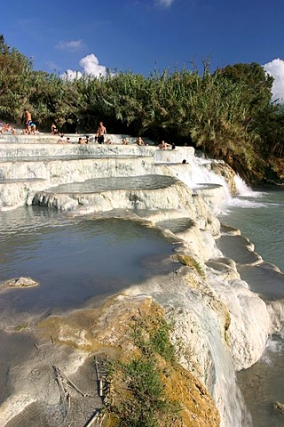 Terme di Saturnia, a frequented place of healthy, sulphur-rich water.