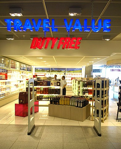 Duty-Free Shop Airport Stuttgart with Electronic-Article-Protection System (EAP), Stuttgart, Baden-Wuerttemberg, Germany