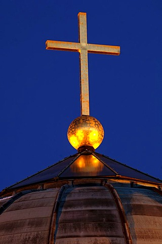 Rotenberg Chapel cupola with The Cross, Stuttgart, Baden-Wuerttemberg, Germany