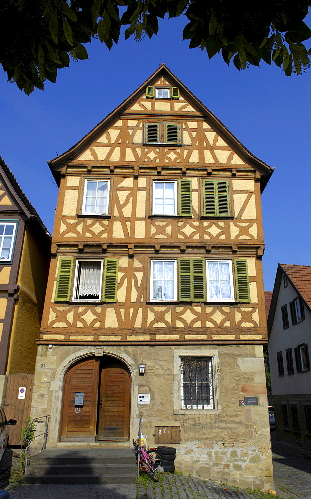 Former Diakonat (diaconate), Marbach am Neckar, Baden-Wuerttemberg, Germany
