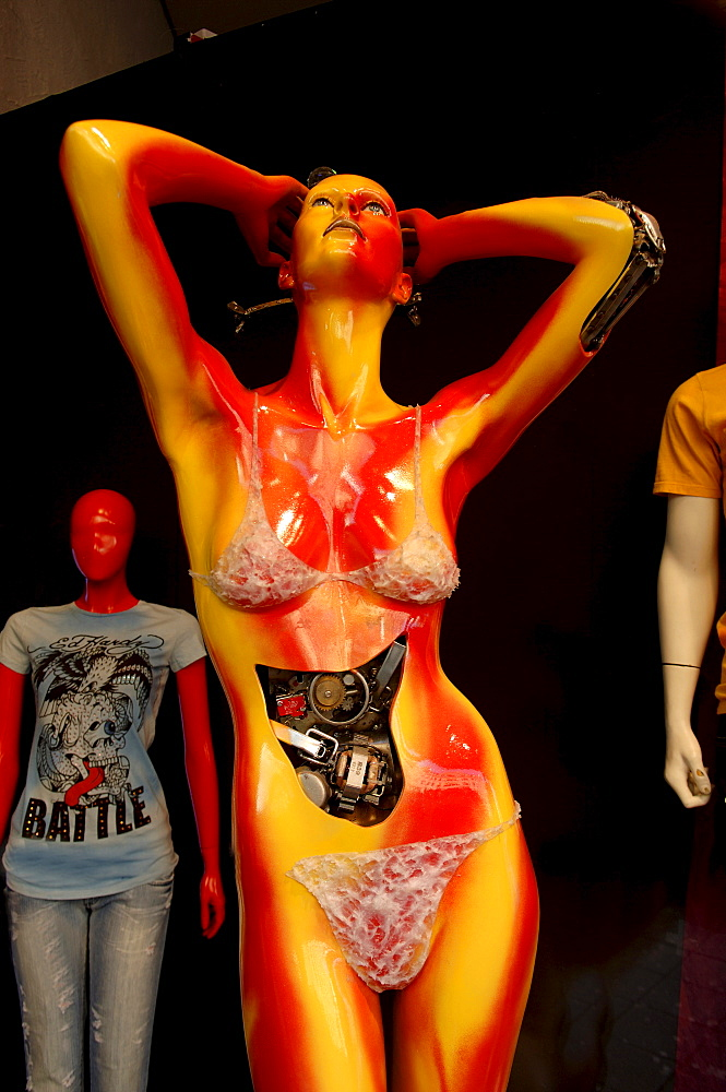 "Female mannequin, ""human machine, "" Nuremberg, Bavaria, Germany"