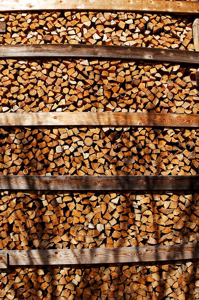 Stacked firewood, Tirol, Austria, Europe