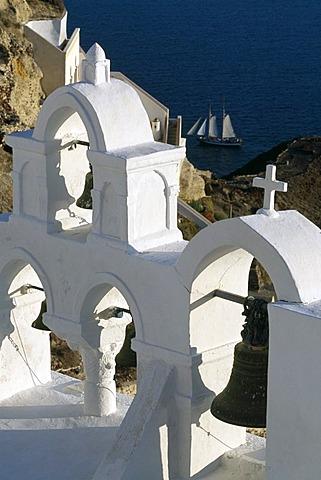 Church, Oia, Santorin, Cyclades, Greece