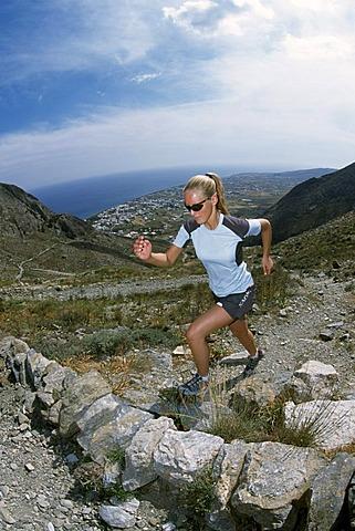 Female runner, Amorgos, Cyclades, Greece