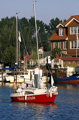 School ship, Waldorf school, Wiek, Greifswald, Baltic Sea, Mecklenburg-Vorpommern, Germany