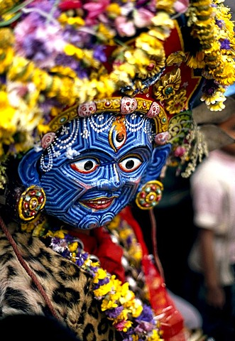 photo of Mask, Bisket Jatra, Kathmandu, Nepal, Asia