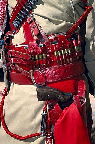 Pistol of a Bedouin policeman, Petra, Jordan, Middle East