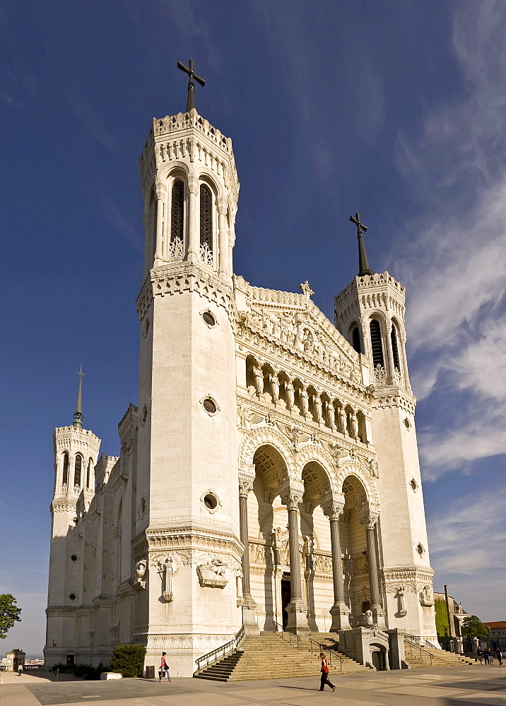 Basilica Notre-Dame de Fourviere in the historic centre of Lyon, France, Europe