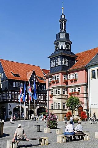 Town Hall on Marktplatz Square, Eisenach, Thuringia, Germany, Europe