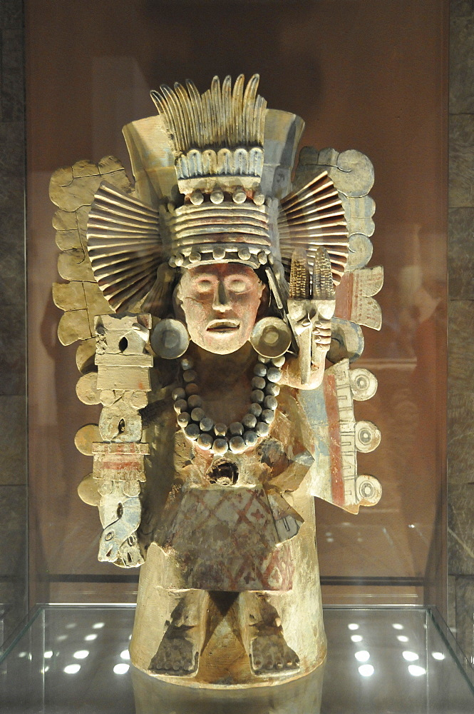 Pre-Columbian museum piece, Museo Nacional de Antropologia, National Museum of Anthropology, Mexico City, Mexico, North America