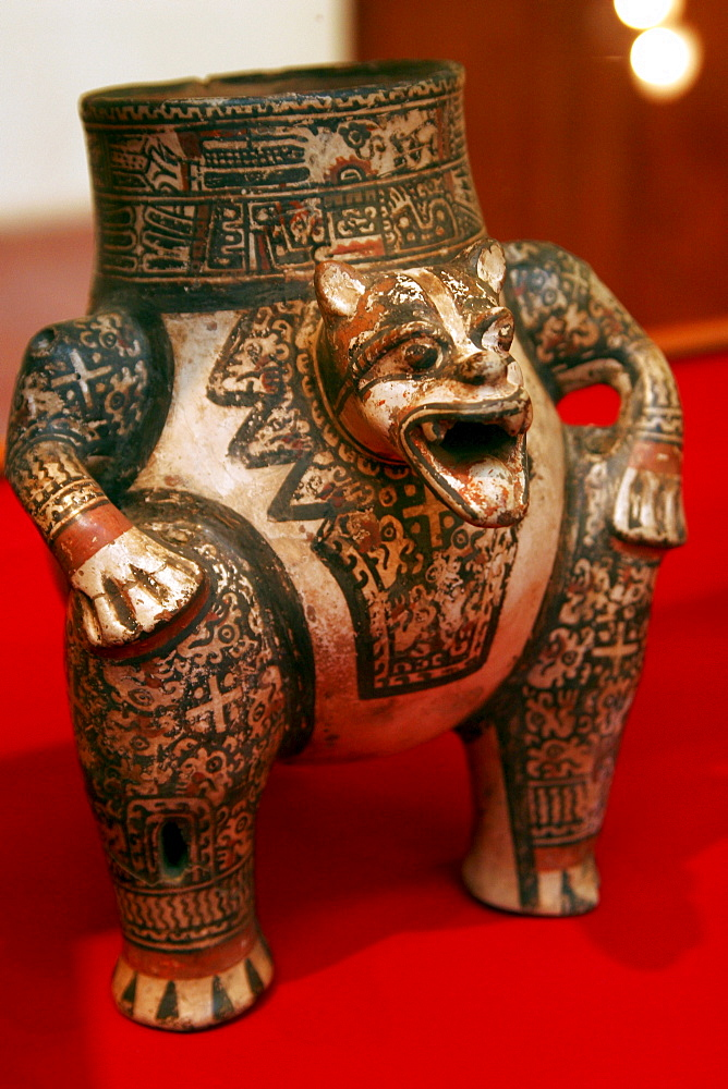 Pre-Columbian art in a museum, San Francisco Convent Cultural Center in Granada, Nicaragua, Central America