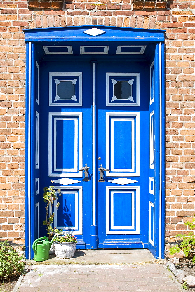 A door of an old house in Wustrow, Mecklenburg-Western Pomerania, Germany, Europe