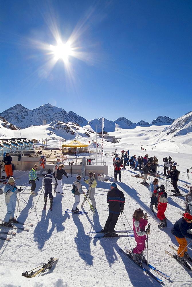Pitztaler Gletscher Ski Area, Pitz Valley Glacier, Oetztal Alps, Tyrol, Austria, Europe
