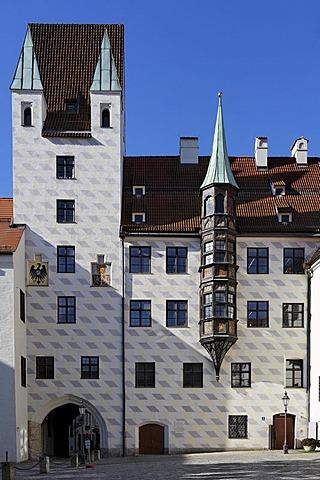 Old courtyard (old veste) in Munich, Upper Bavaria, Bavaria, Germany