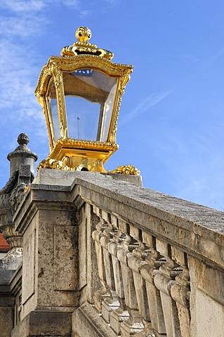 Lamp/detail at Castle Nymphenburg in Munich, Upper Bavaria, Bavaria, Germany