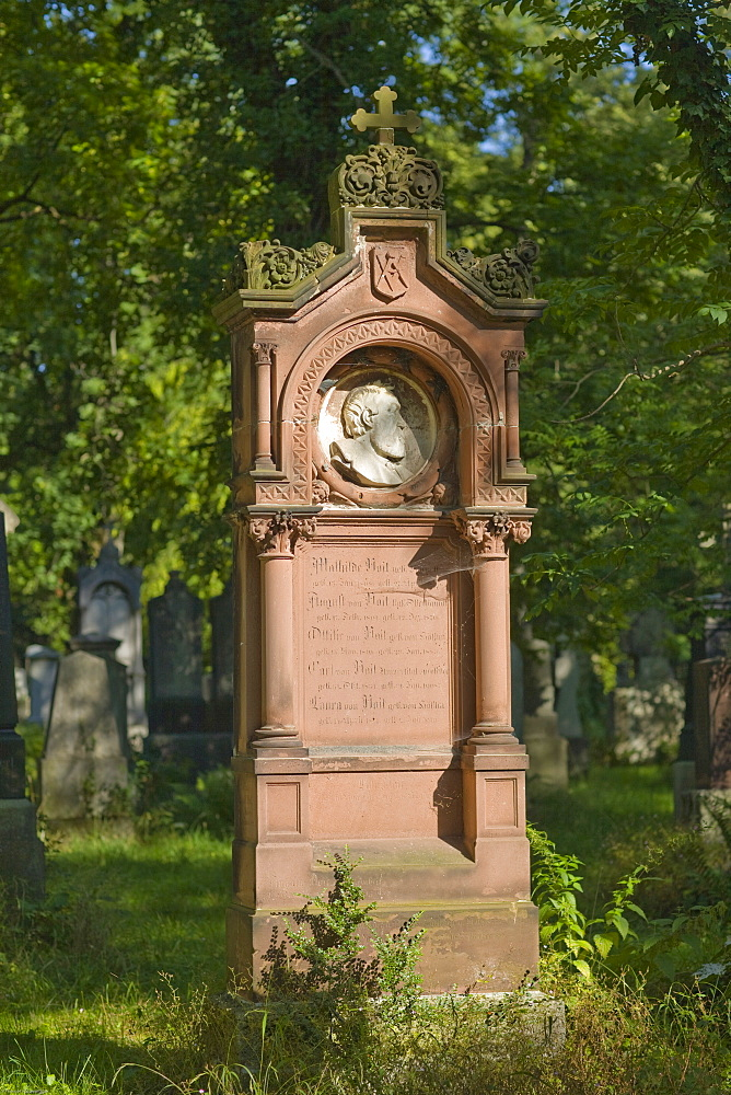 Grave of Richard Jakob August von Voit, 1801-1870, architect, Alter Suedfriedhof, old cemetery in Munich, Bavaria, Germany