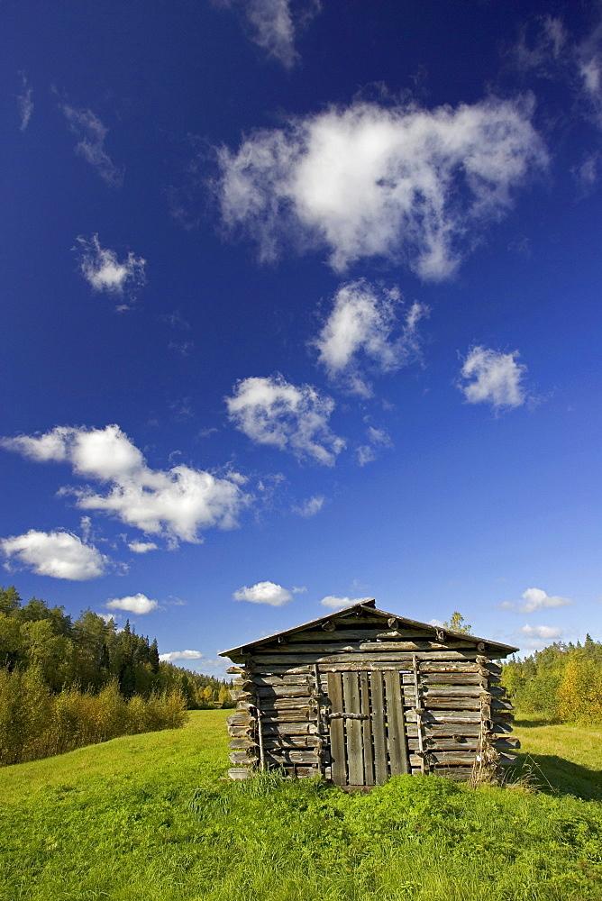 Log cabin, Oulanka National Park, Finland, Scandinavia, Europe