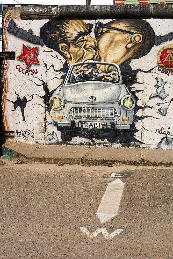 Berlin Wall an the Eastside Gallery, Berlin, Germany