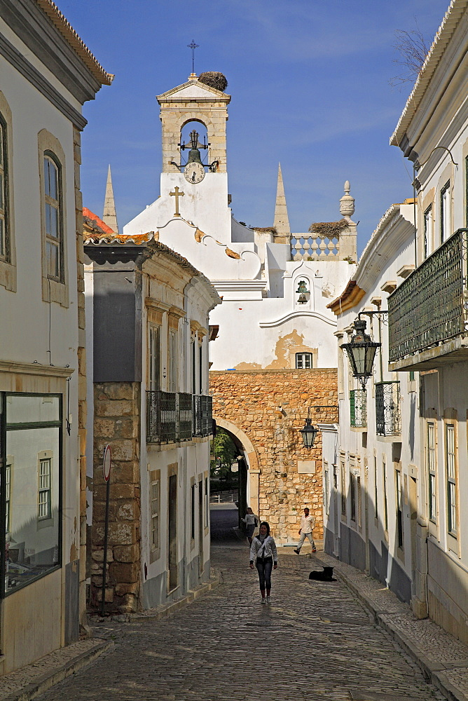 Old part of town, Faro, Algarve, Portugal