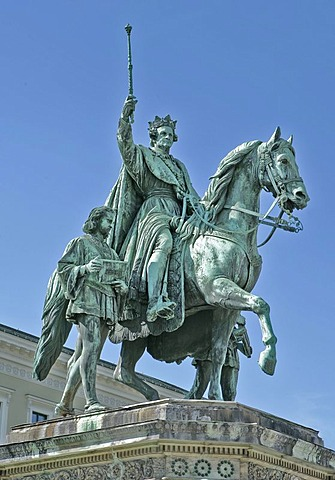 King Ludwig of Bavaria, Odeons Square, Munich, Bavaria, Germany