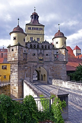 Ellinger City Gate in Weissenburg, Bavaria, Germany