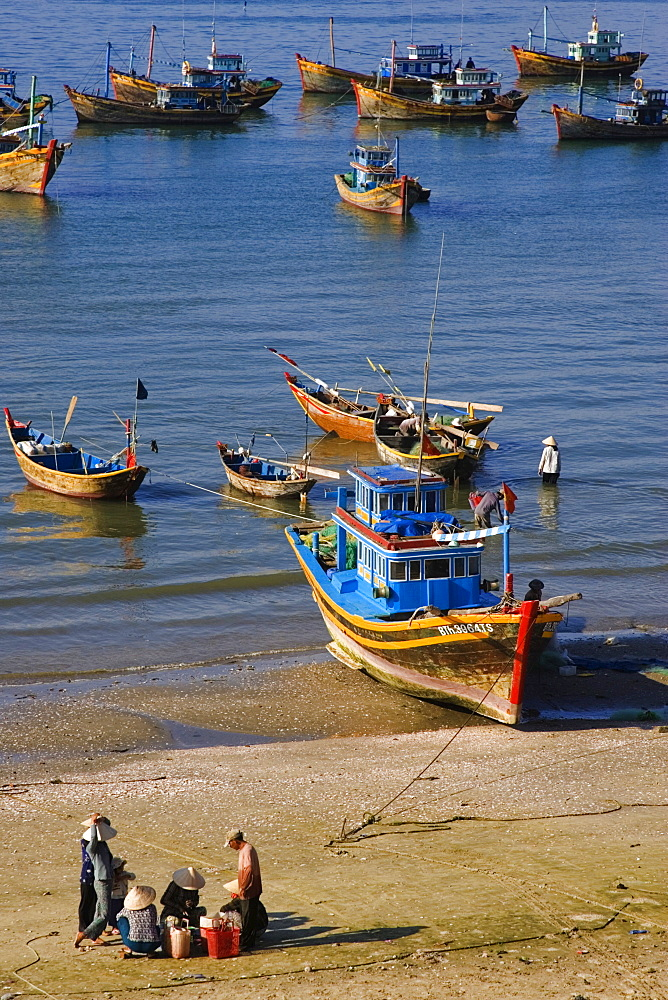 Fishing - Habor of Mui Ne, Vietnam, Asia