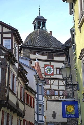 Wolf gate. Oldest gate tower around 1220. Esslingen at the Neckar, Baden Wuerttemberg, Germany