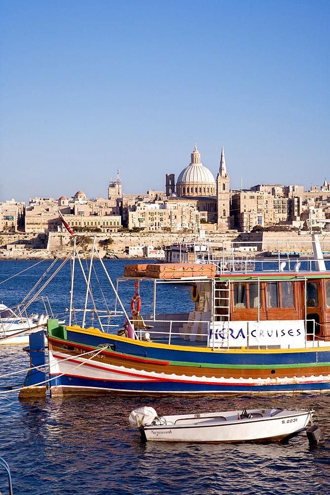 View of Valletta, Sliema, Malta, Europe