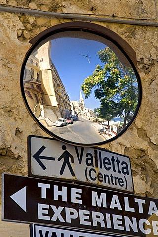 Signpost, Valletta, Malta, Europe