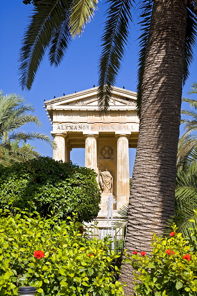 Lower Barracca Gardens, Valletta, Malta, Europe