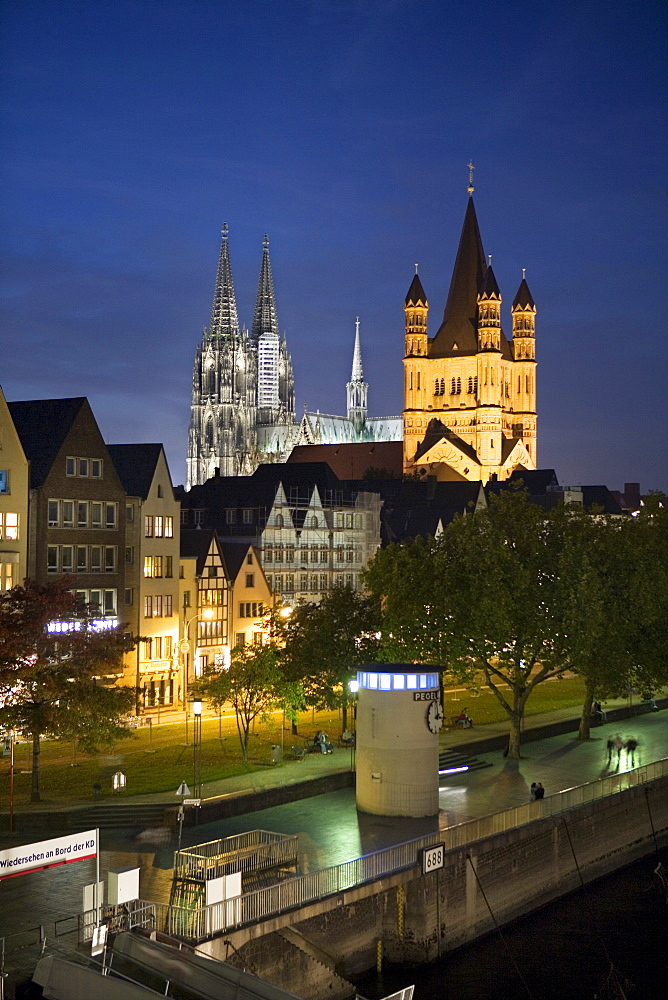 Great St. Martin Church, Cologne Cathedral, historic centre of Cologne, North Rhine-Westphalia, Germany, Europe