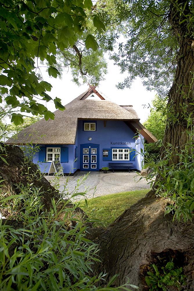 Museum, Kunstkaten, literally art cottage, Ahrenshoop, Fischland, Mecklenburg-Western Pomerania, Germany, Europe