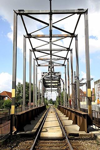 Railway bridge Emden, Lower Saxony, Germany