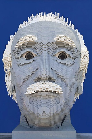 Einstein-bust made of Lego bricks