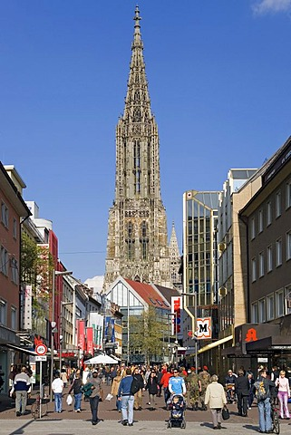 Germany, Ulm with its world-famous Muenster church
