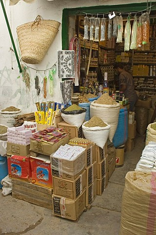 Little shop in the bazaar of Tripolis, Tripoli, Libya