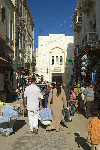 Shopping lane in the historic center of Tripoli, Libya