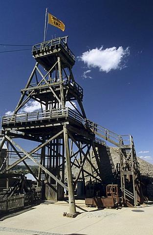 Wooden skip at Sovereign Hill, Ballarat, Victorian Goldfields, Victoria, AUS
