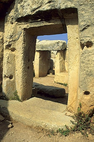 Megalithic temple of Mnajdra, Unesco World Heritage Site, Malta