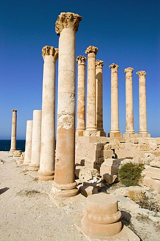 Isis temple, roman archeological site of Sabrata, Libya