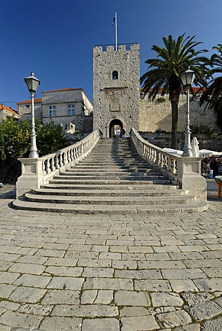Historic city of Korcula, birth place of Marco Polo, Korcula island, Dalmatia, Croatia