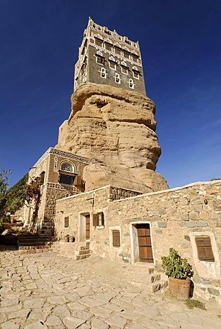 Dar al Hadschar, palace of iman Yachya at Wadi Darr, Dhar, Yemen